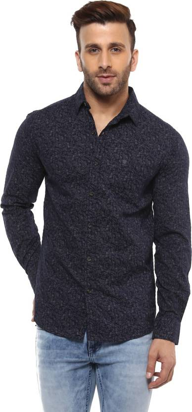041566bee21 Mufti Men Printed Casual Dark Blue Shirt - Buy Mufti Men Printed Casual  Dark Blue Shirt Online at Best Prices in India