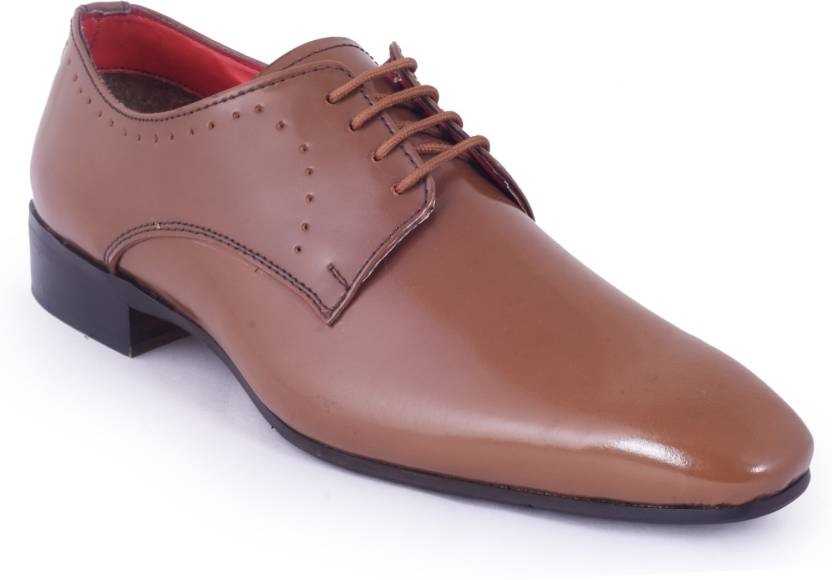 97e1b1b8a Abelardo De Moda Abelardo De Moda Tan Leather Formal Shoe Lace Up For Men  (Tan)