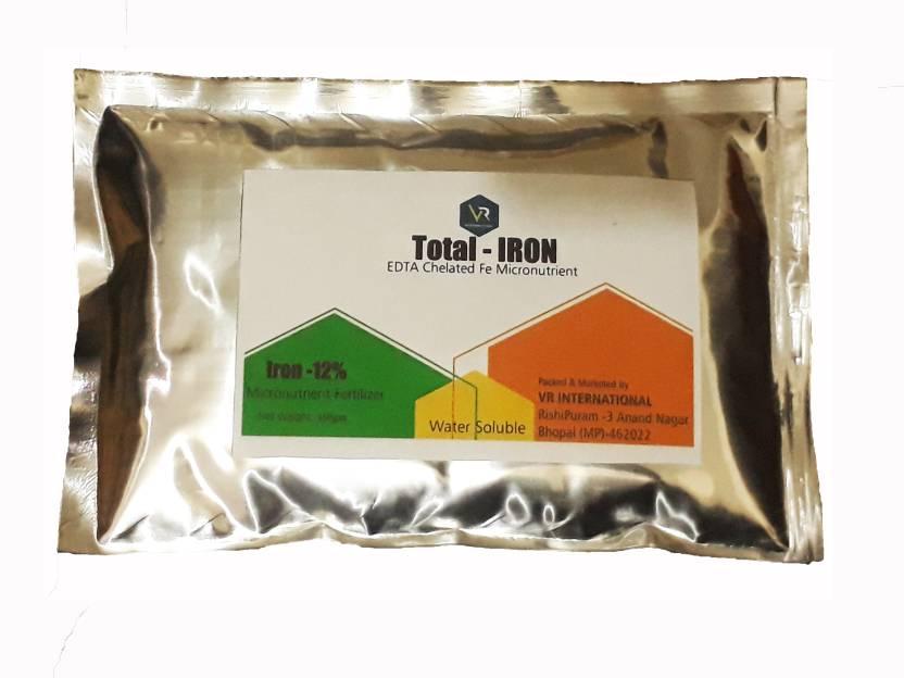 VR INTERNATIONAL Total - IRON EDTA Chelated Fe Micronutrient Fertilizer  100gm Soil Manure