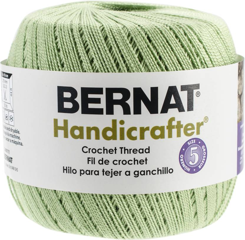 Spinrite Handicrafter Crochet Thread Size 5 Solids Fresh Fern