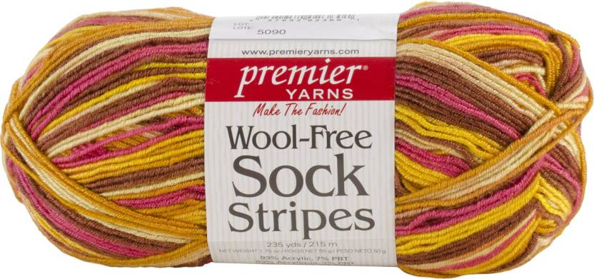 Premier Yarns Wool - Free Sock Stripes Yarn - Golden Field - Wool