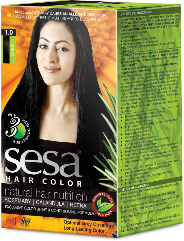 Sesa Ayurvedic Herbal Hair Color Black A Natural Hair Nutrition