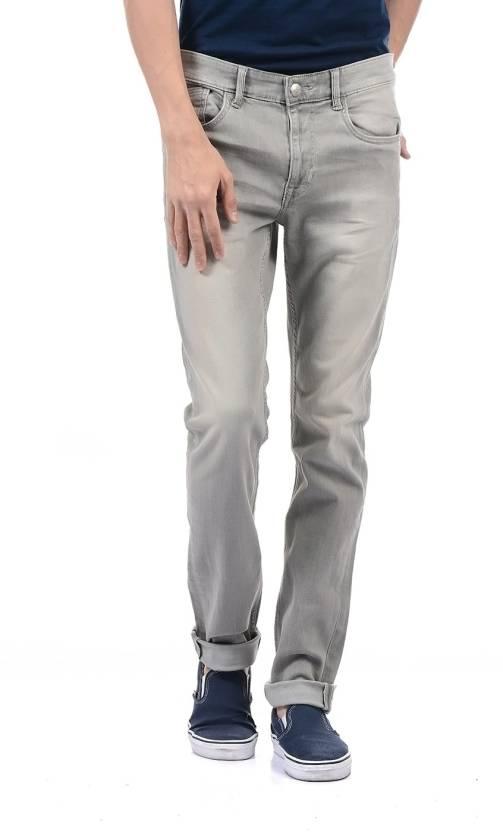 66b42160d9 U.S. Polo Assn Slim Men Grey Jeans - Buy U.S. Polo Assn Slim Men Grey Jeans  Online at Best Prices in India