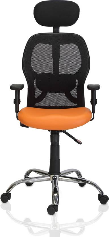 Green Soul New York High Back Mesh Office Chair Orange Leatherette