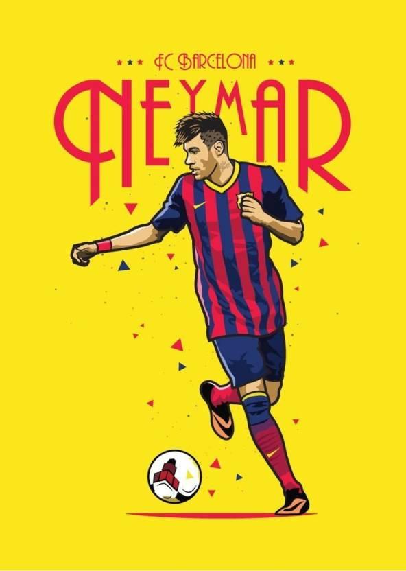 fc barcelona neymar poster football poster sports poster