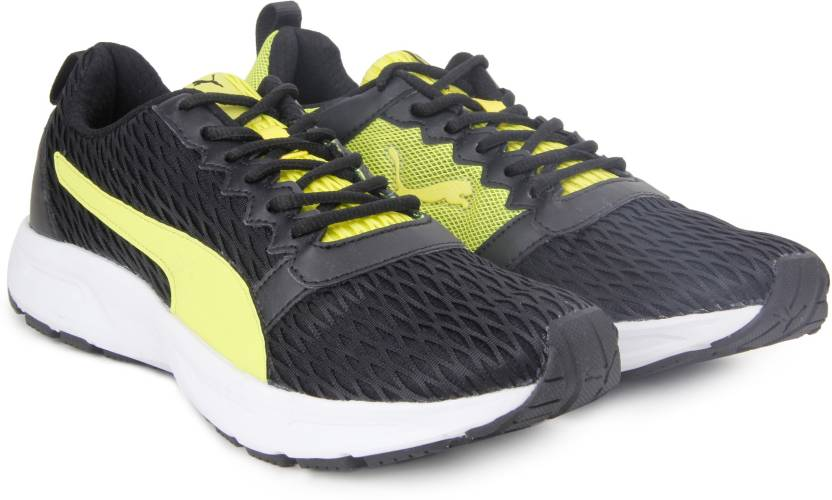 Puma Fabian Running Shoes For Men - Buy BlackNRGY YellowWhite Color ... 93162dd9c