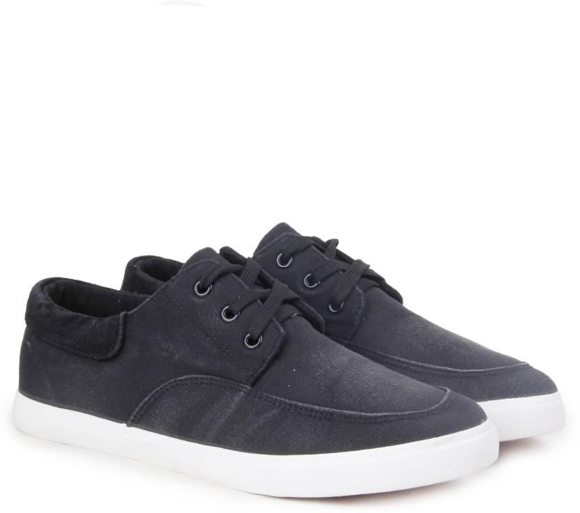 16af6f33fa4 Mr.CL THOMAS Canvas Shoes For Men - Buy BLACK GREY Color Mr.CL ...