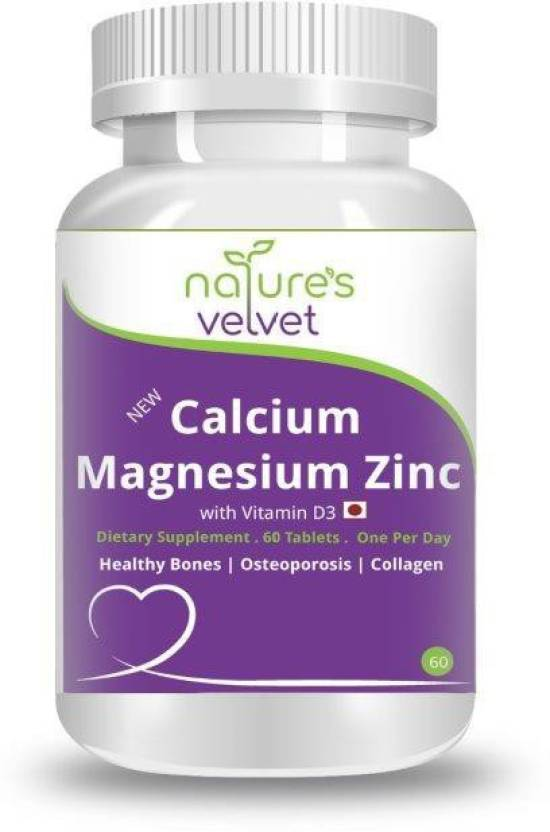 Natures Velvet Lifecare Nvl Calcium Magnesium Zinc With Vitamin D3