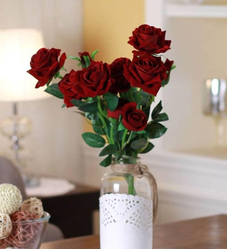 fourwalls fourwalls artificial 5 hd rose flower stick 5 flower