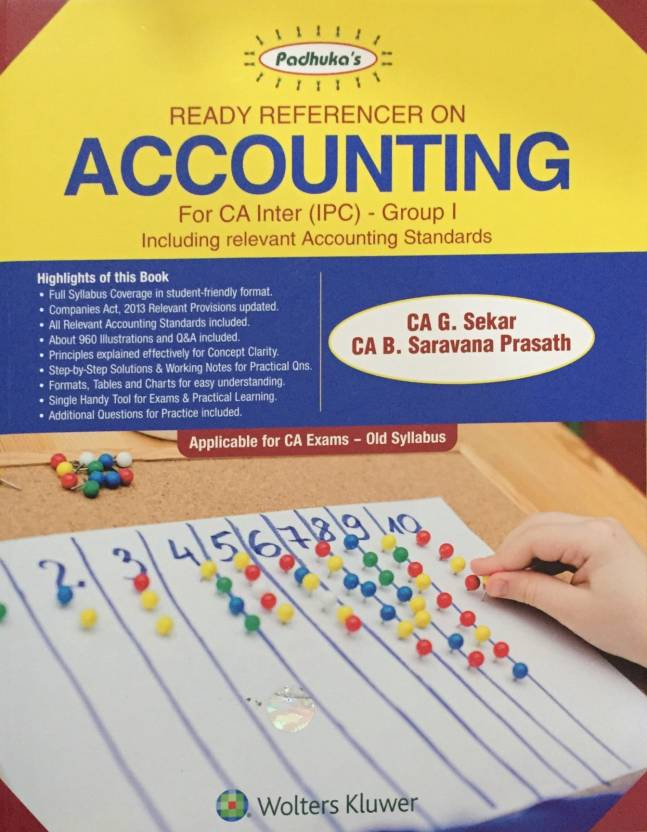 Paduka's Ready Referencer on Accounting For Ca Inter(Ipc