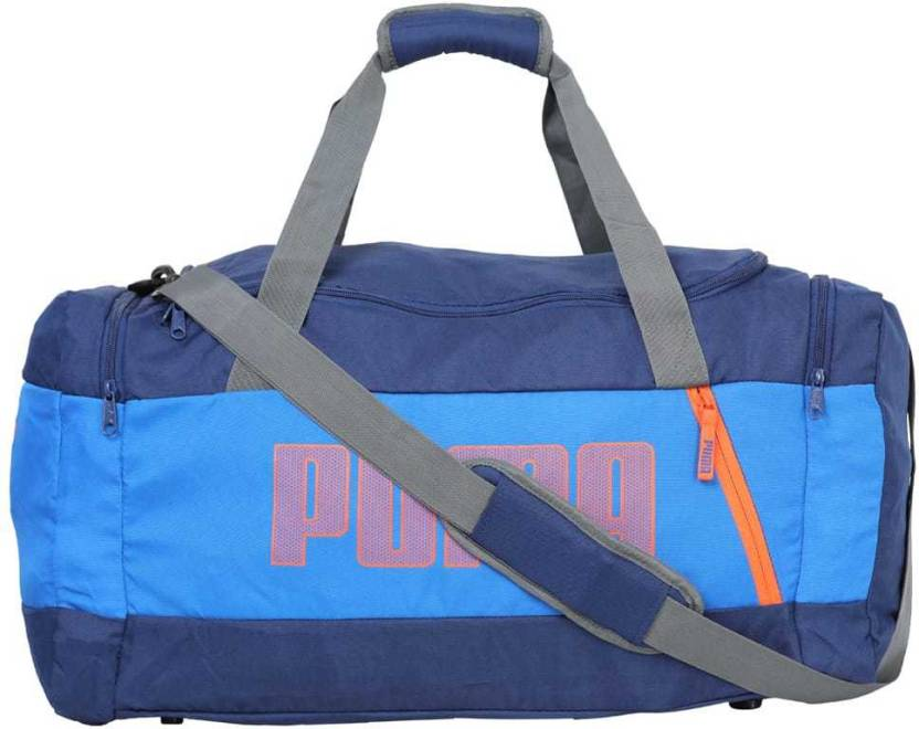 90a8e9b071 Puma Fundamentals Sports Bag M II Gym Bag Blue - Price in India ...