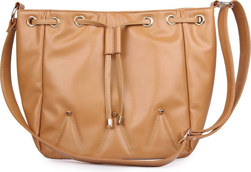 8734ca8b7d Women Marks Women Casual Beige PU Sling Bag Beige - Price in India