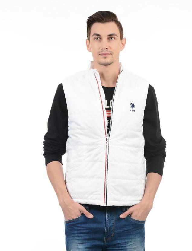 90835a0e U.S. Polo Assn Sleeveless Solid Men Jacket - Buy U.S. Polo Assn Sleeveless  Solid Men Jacket Online at Best Prices in India | Flipkart.com