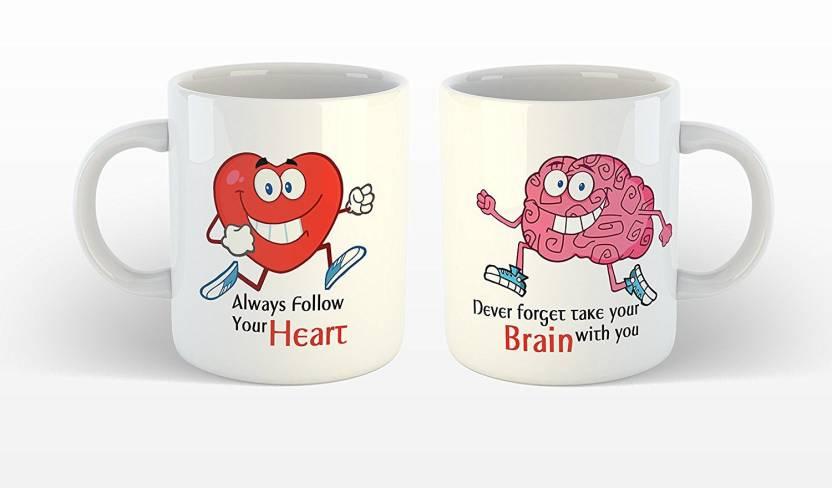 Ikraft Funny Quotes Printed Coffeemug Set Always Follow