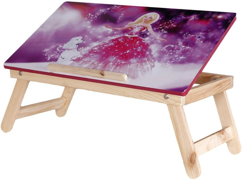 Multi Table Foldable Cute Girl Character Printed Wooden Multipurpose Table  / Kids Table / Study Table / Adjustable Laptop Table Wood Portable Laptop  Table ...