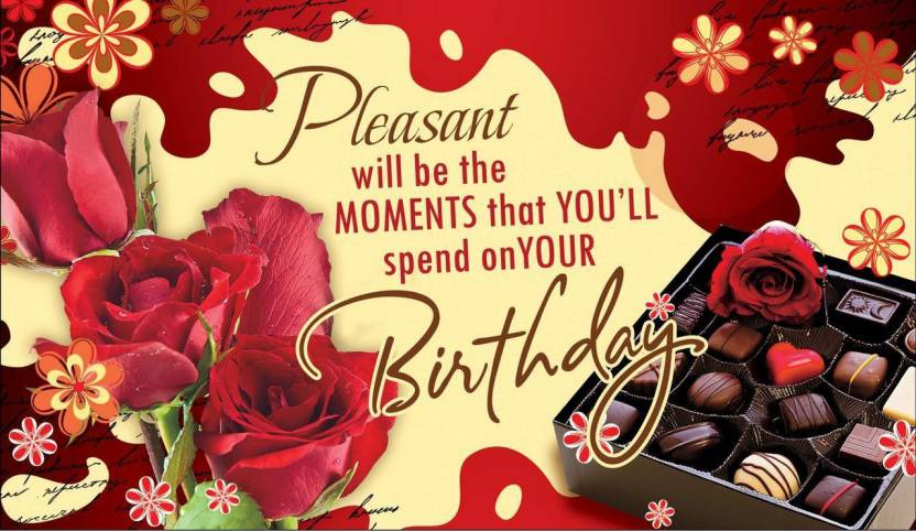 HAPPY BIRTHDAY QUOTES C POSTER PRINT ON 13X19 INCHES 3D Poster 13 Inch X 19 Rolled