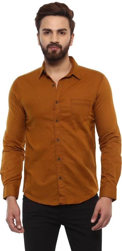 f95e422c Mufti Men Solid Casual Brown Shirt - Buy Mufti Men Solid Casual Brown Shirt  Online at Best Prices in India | Flipkart.com