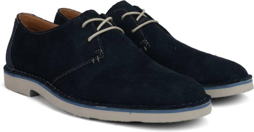 205edc3759262 Clarks Jareth Walk Navy Suede Sneakers For Men - Buy Blue Color ...