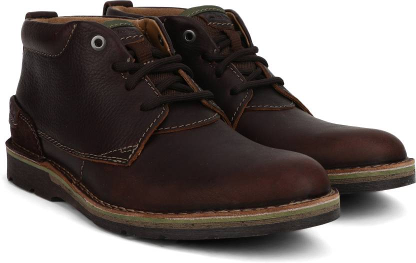 07cb1cafb7792a Clarks Edgewick Mid Brown Oily Boots For Men - Buy Brown Color ...