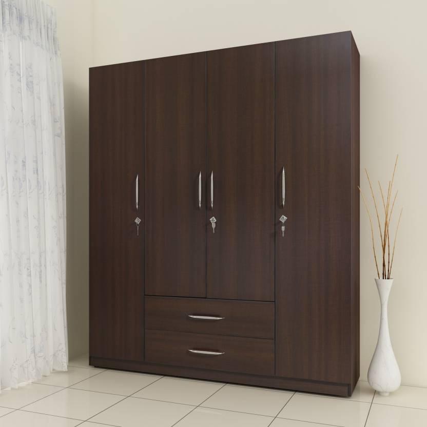 Crystal Furnitech Aspire Engineered Wood 4 Door Wardrobe Price In