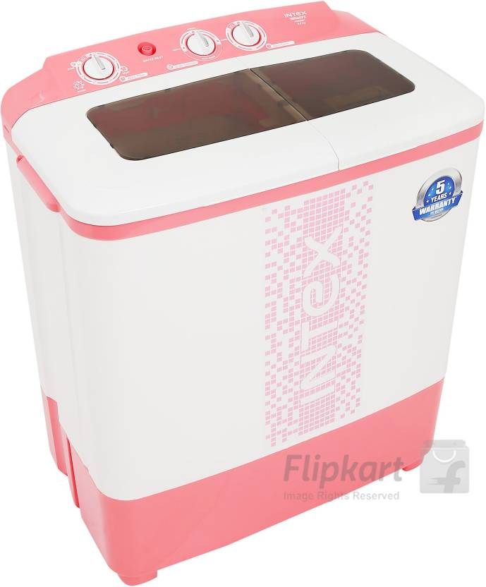 Intex 6.5 kg Semi Automatic Top Load Washing Machine Pink