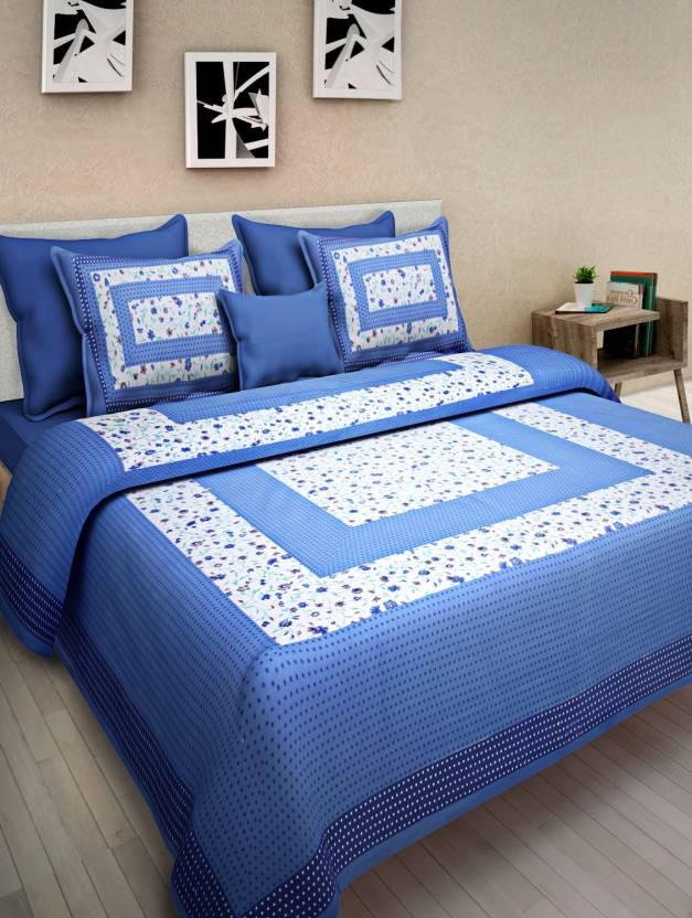 Drap De Lit 300 TC Cotton Double King Printed Bedsheet - Buy Drap De ...