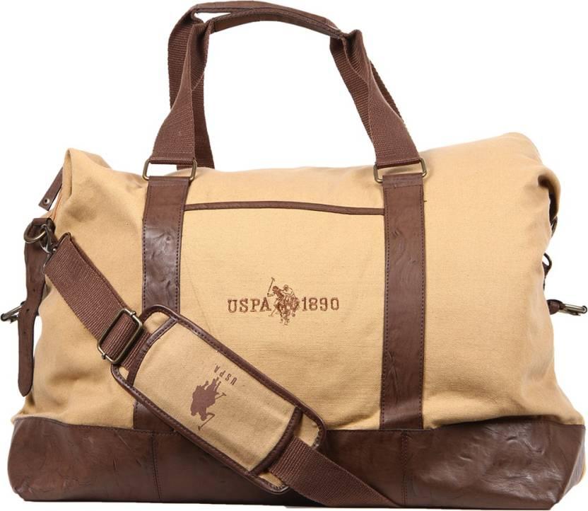 fbce0e480a U.S. Polo Assn (Expandable) USAB0022 Travel Duffel Bag Khaki - Price ...