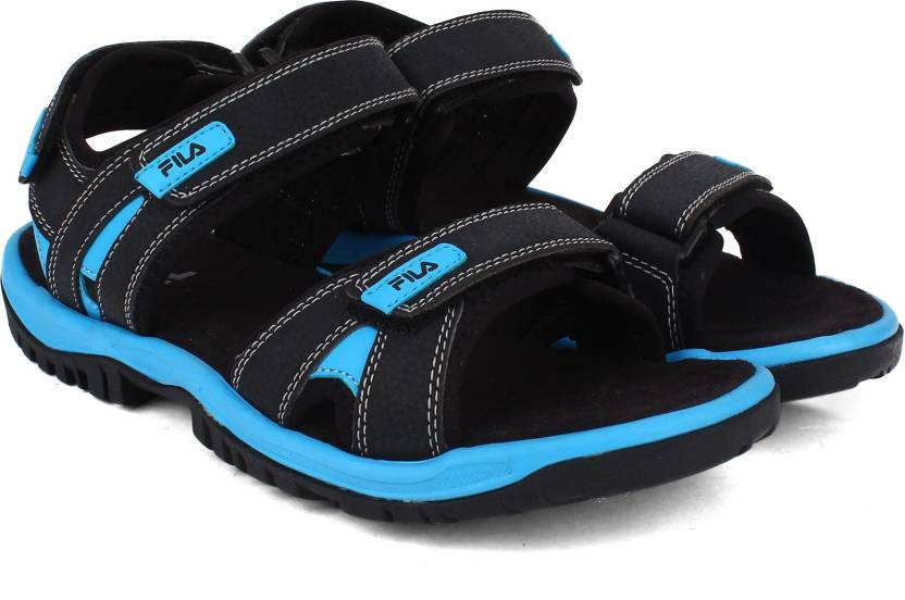 12a4af7b71c1 Fila Men BLK BLU Sports Sandals - Buy BLK BLU Color Fila Men BLK BLU Sports  Sandals Online at Best Price - Shop Online for Footwears in India