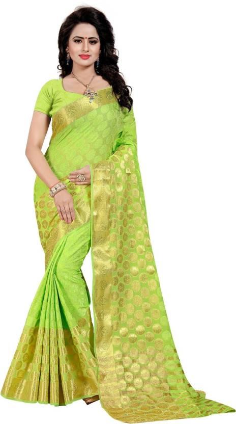 d6831d5c20 Buy FABDIWA FASHION Printed Fashion Art Silk Green Sarees Online ...