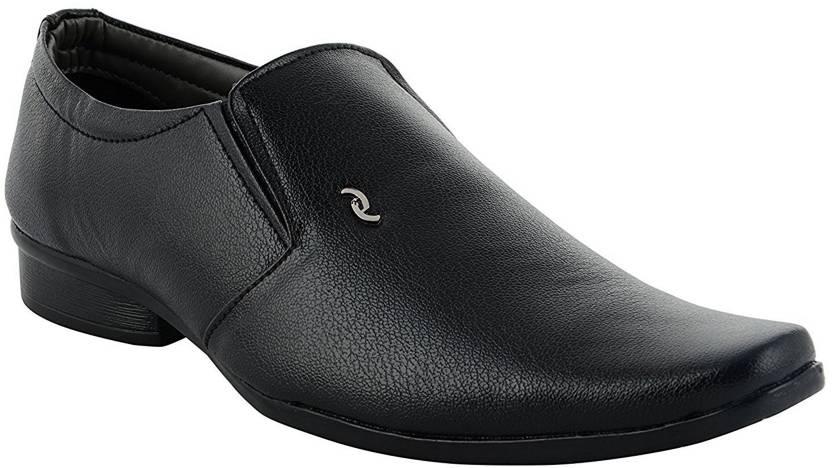 34c3cf42262 Deals4you Men And Boys Office Use Genuine Leather Wedding Formal Slip on  Shoes Slip On For Men (Black)