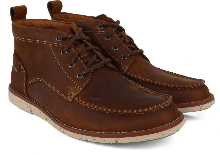 5964eac8d423ab Clarks Kyston Mid Tan Nubuck Boots For Men - Buy Brown Color Clarks ...