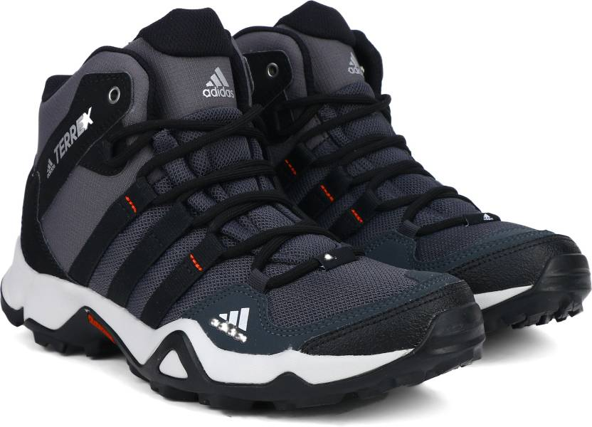 adidas path attraversare metà all'aperto per gli uomini comprano scarpe cblack / silvmt