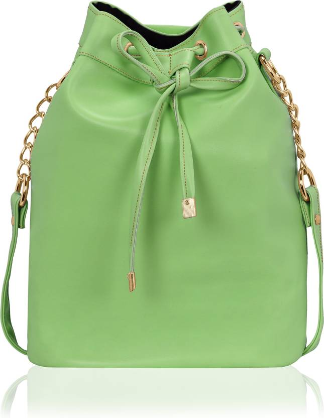 5a05fa5a0d4 Kleio Women Evening Party Green PU Sling Bag Green - Price in India ...