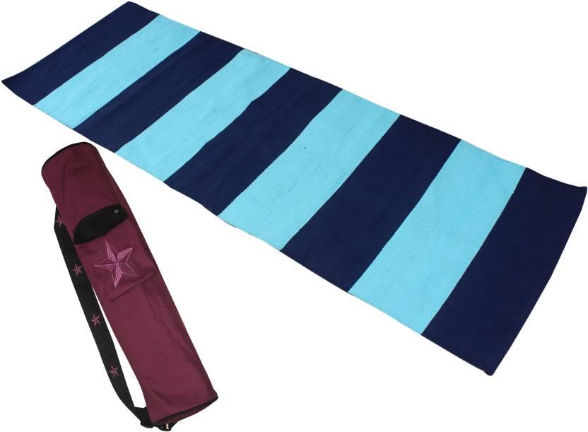 select for best enjoy big discount huge sale Ryan Combo Yoga Mat & Mat Bag Maroon, Blue 5 mm Yoga Mat ...
