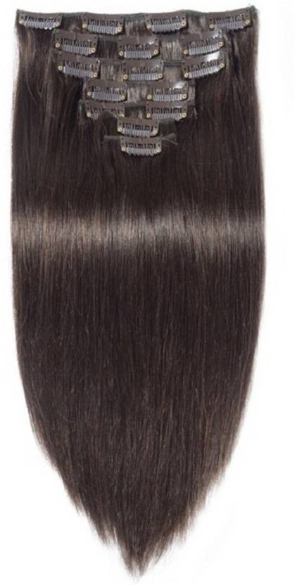 Confidence Clip On Real Human Hair Extensions 7 Pcs 120 Grams 28