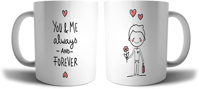 Ikraft Proposing Couple Coffeemug Gift His And Her Husband And