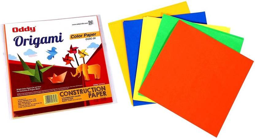 Flipkart Oddy Fluorescent 5 Colors 6 X 6 Origami Paper