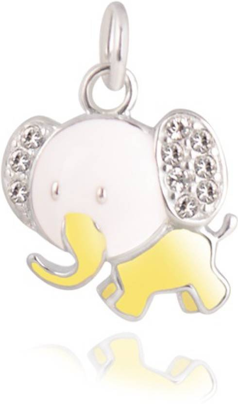 Gempetit baby elephant pendant white gold cubic zirconia sterling gempetit baby elephant pendant white gold cubic zirconia sterling silver pendant aloadofball Images