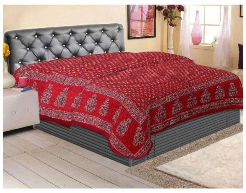 eed2fa53b7 Earth Ro System Double Bed Size Jaipuri Pure Cotton Quilt Razai Hand Block  Printed Winter Quilt Jaipuri Prints m92 Cotton Batting (220 cm x 230 cm)