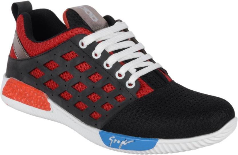 a0098940c6 Aadi AADI BLACK & RED SPORTS SHOES Running Shoes For Men - Buy Aadi ...