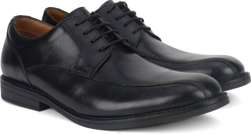 b938d1e369 Clarks Beckfield Over Black Leather Formal For Men - Buy Black Color ...