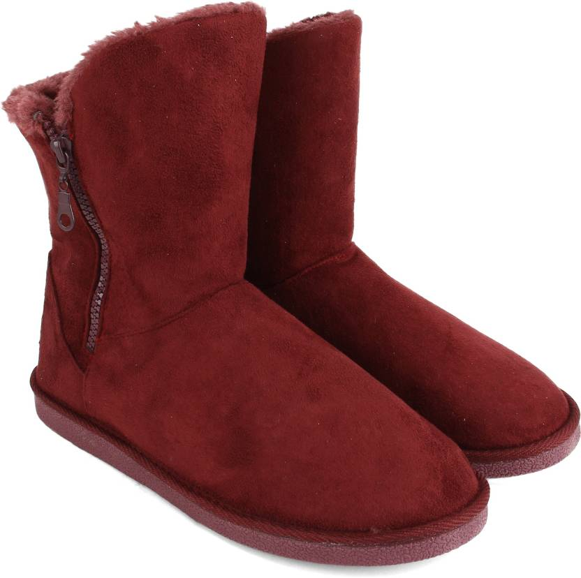 fb7434e37cc73f CL by Carlton London Boots For Women - Buy BURGANDY Color CL by ...