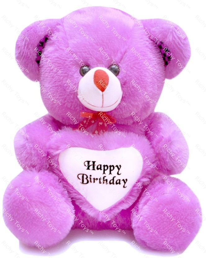 Teddy Bear 7 x 5 Inch To A Lovely Nanny Birthday Greeting Card