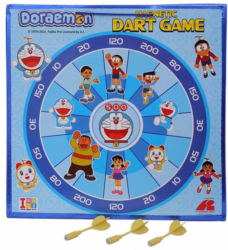 3ad5068ba945 Doraemon 2 in 1 Dart board for kids in PVC packing to enhance hand eye  coordination ...
