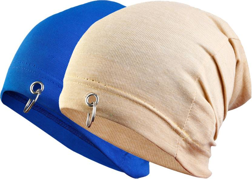 4e24c854 waymakers Solid skull cap, winter cap, ring cap, beanie cap, fashion cap  Cap (Pack of 2)