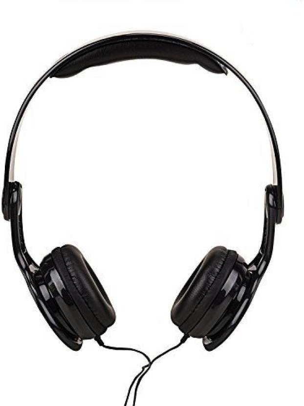 3ef488cf10a Black Cat VP-1720 Black Big Daddy Bass On-Ear Wired Headphone With Active  Noise Cancelling Wired Headphone (Black, Over the Ear)