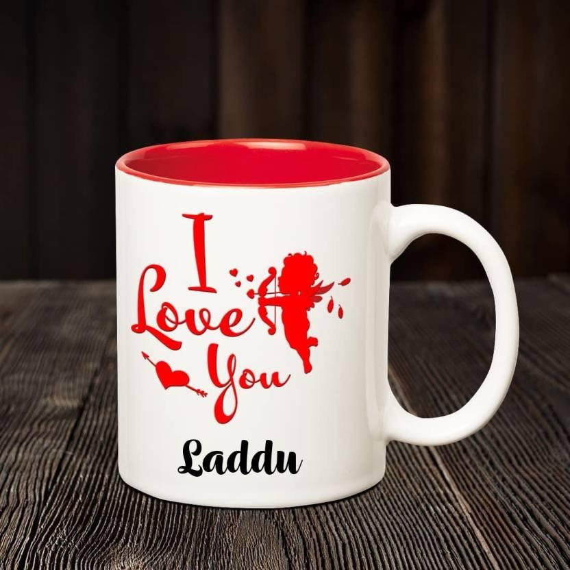 chanakya i love you laddu romantic inner red coffee name mug ceramic