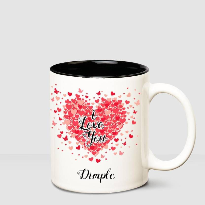 Huppme I love you Dimple Inner Black romantic coffee name