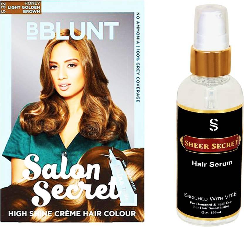 Bblunt Light Golden Brown Salon Secret High Shine Creme Hair Colour