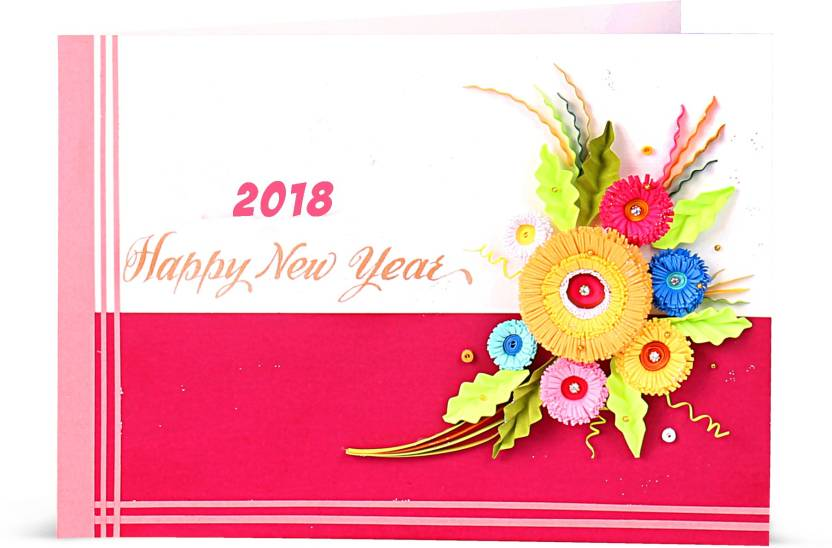 handcrafted emotions new year card greeting card